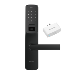 Ultraloq UL300 Bluetooth Enabled Fingerprint, Touchscreen & Key Fob Multi-Point Smart Lock Bridge Wifi Adaptor, Black