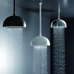 """Rain Therapy RD-PD29 12"""" Ceiling Shower Head With Clear LED Light"""
