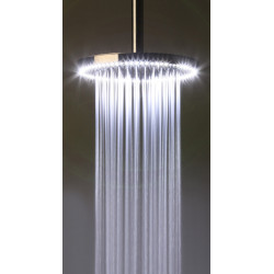 """Rain Therapy RD-PD22 9-1/2"""" Round Shower Head With LED Light, Pol. St. Steel"""
