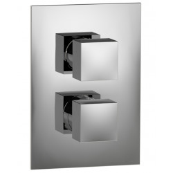 """Rain Therapy 3051-Q In Wall Thermostatic 3/4"""" Valve With Shut-Off & Filters 3/4"""" Female NPT Inlet With 2 Way Diverter"""