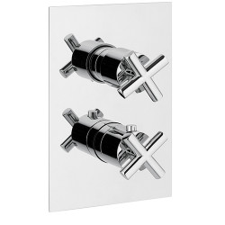 """Rain Therapy OM-30A1 In Wall T.Static 3/4"""" Valve w/3 Way Diverter,Share Port 3/4"""" Fem. NPT Inlet w/Shut-Off,Filters"""