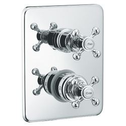 """Rain Therapy OM-30J17 In Wall Thermostatic 3/4"""" Valve With 2 Way Diverter + Share Port"""