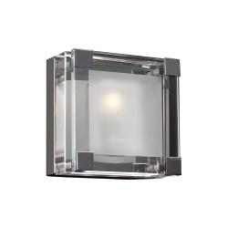 PLC Lighting 18141 1-Light Wall Sconce, Corteo Collection, Finish-Polished Chrome