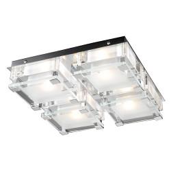 PLC Lighting 18149 PC 4-Light Ceiling Light, Corteo Collection, Finish-Polished Chrome