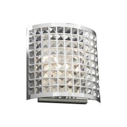 PLC Lighting 18186 PC 2-Light Wall Sconce, Jewel Collection, Finish-Polished Chrome
