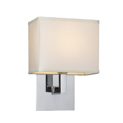 PLC Lighting 1819 60W Dimmable Wall Sconce, Dream Collection, Finish-Polished Chrome