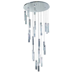 PLC Lighting 21188 PC 25-Light Chandelier, Segretto Collection, Finish-Polished Chrome