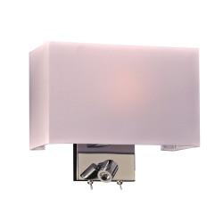 PLC Lighting 24214PC 1-Light Wall Sconce, Duke Collection, Finish-Polished Chrome