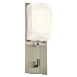 PLC Lighting 55028SN LED-Light Wall Sconce Alexis Collection, Finish-Satin Nickel