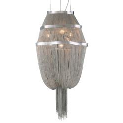 PLC Lighting 70015 SN 6-Light Chandelier Formae Collection, Finish-Satin Nickel