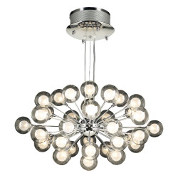 PLC Lighting 72108 PC 37-Light Chandelier Coupe Collection, Finish-Polished Chrome