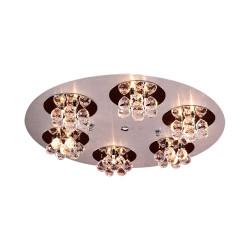 PLC Lighting 72135 AL/PC 18-Light Ceiling Light Bolero Collection, Finish-Aluminum W/ Polished Chrome