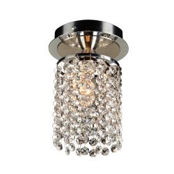 PLC Lighting 72191 PC 1-Light Crystal Ceiling Light Rigga Collection, Finish-Polished Chrome