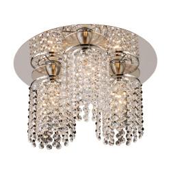PLC Lighting 72198 PC 3-Light Crystal Ceiling Light Rigga Collection, Finish-Polished Chrome