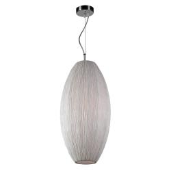 PLC Lighting 73016IVORY 1-Light Pendant Light, Ivory Silk Shade Melrose Collection, Finish-Ivory