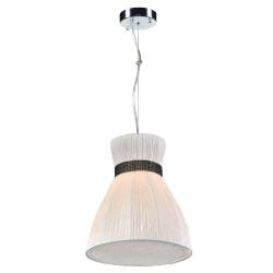PLC Lighting 73019IVORY 1-Light Pendant Nepro Collection, Finish-Ivory