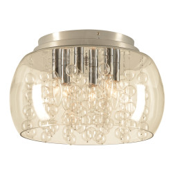 PLC Lighting 73068 PC 6-Light Ceiling Light Hydro Collection, 60W, Finish-Polished Chrome