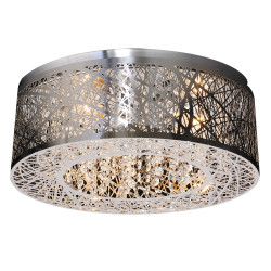 PLC Lighting 77747 PC 3-Light Ceiling Light Nest Collection, 40W , Finish-Polished Chrome