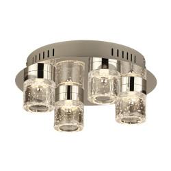PLC Lighting 81114PC 4-Light LED Ceiling Light Yoki Collection, 16W, Finish-Polished Chrome