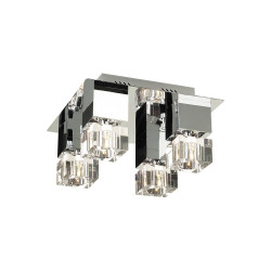 PLC Lighting 8123 Charme Collection Ceiling Light , 40W, Finish-Polished Chrome