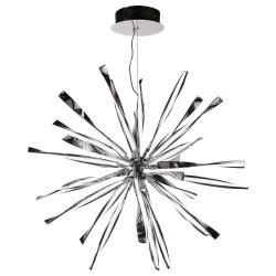 PLC Lighting 81304PC Vitrea Led Large Pendant Light, 120W, Finish-Polished Chrome