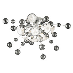 PLC Lighting 81382 PC 8-Light Ceiling Light Circus Collection, 35W, Finish-Polished Chrome