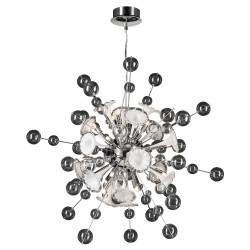 PLC Lighting 81385 PC 16-Light Chandelier Circus Collection, Finish-Polished Chrome