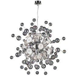 PLC Lighting 81388 PC 30-Light Chandelier Circus Collection, Finish-Polished Chrome