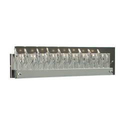 PLC Lighting 8164 Vanity Wall Light Lief Collection, Dimmable-10W, Finish-Polished Chrome