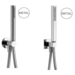 "Rain Therapy AP-KI0 Combo Angle Valve - Hand Shower Holder W. 5FT Shower Hose, 1"" Round Hand Shower"
