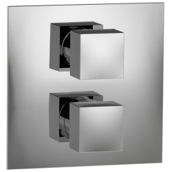 """Rain Therapy 30A1-Q In Wall Thermostatic 3/4"""" Valve With Shut-Off & Filters 3/4"""" Female NPT Inlet With 3 Way Diverter"""