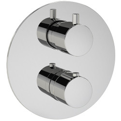 """Rain Therapy 30J1-T In Wall Thermostatic 3/4"""" Valve w/Shut-Off & Filters 3/4"""" Fem NPT Inlet w/2 Way Div. + Shared Port"""