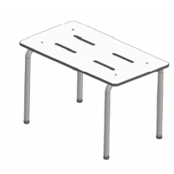 Seachrome SSP Portable Free Standing Shower Bench, Finish-Stainless Steel, Cube-4.1, Lbs-20