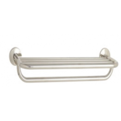 "Seachrome 700 Series Towel Shelf and Bar, Mounting Centers x 9-1/4"" D"