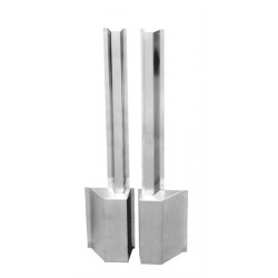 ABH Hardware 181 Vertical Rod Protectors & Latch Bolt Cover, Satin Stainless Steel