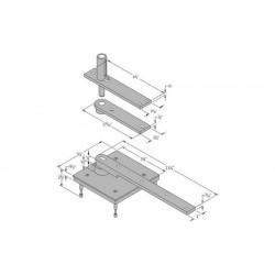 ABH Hardware 0117.75 Center Hung Pivot Set (Non-Handed)