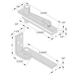 ABH Hardware 0127 Center Hung Pivot Set (Non-Handed)