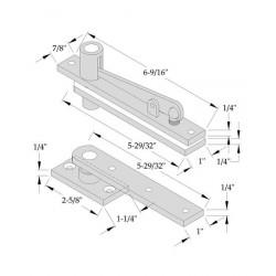 ABH Hardware 0128 Center Hung Pivot Set (Non-Handed)