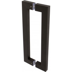 Delaney BD076 17-1/4 Inch Barn Door Pull Handle - Double Sided Square
