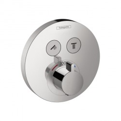 Hansgrohe 15743001 ShowerSelect Round Thermostatic 2-Function Trim