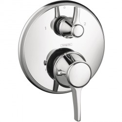 Hansgrohe 15753001 C Thermostatic Trim with Volume Control and Diverter