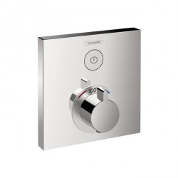 Hansgrohe 15762001 ShowerSelect Square Thermostatic 1-Function Trim