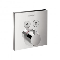 Hansgrohe 15763001 ShowerSelect Square Thermostatic 2-Function Trim