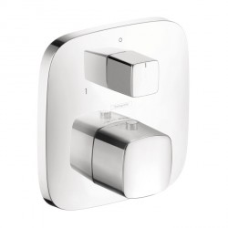 Hansgrohe 15771001 PuraVida Thermostatic Trim with Volume Control and Diverter