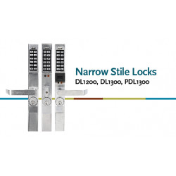 Alarm Lock PDL1300 Narrow Stile Lock