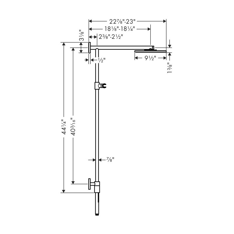 hansgrohe 27164001 raindance connect. Black Bedroom Furniture Sets. Home Design Ideas