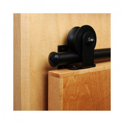 Custom Service Hardware QG.1310.E01.08-6S Top Mount Black Rolling Door Hardware Kit