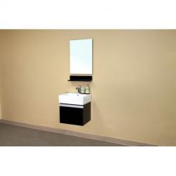 """Bellaterra 203145 In Single Wall Mount Style Sink Vanity-Wood-Espresso -16.5x22"""""""
