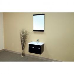 "Bellaterra 203172 In Single Wall Mount Style Sink Vanity-Wood-Black - 18.5x16.5"""