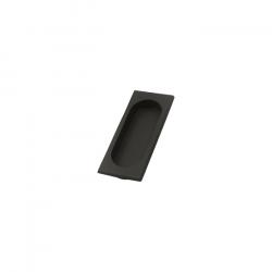 Custom Service Hardware DA.FP4134U10B Solid Brass Flush Pull Paint Black